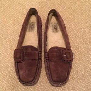 UGG Women's Leather Driving Moccasins Size 7-1/2